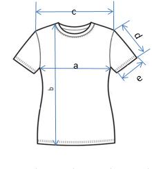 Схема размеров женской футболки
