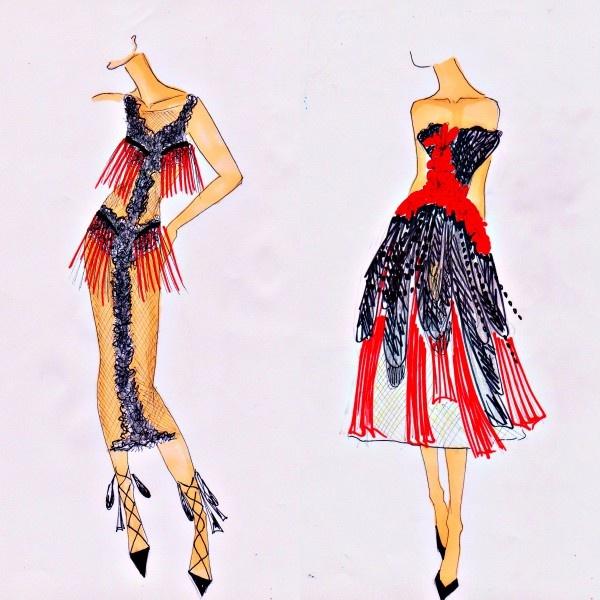 Разработка эскизов одежды